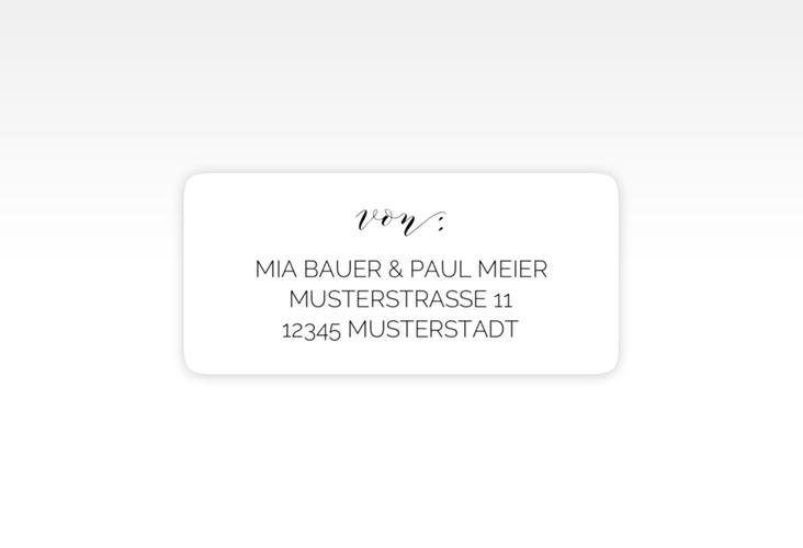 """Absenderetikett Hochzeit """"Paperlove"""" 45,7 x 21,2 mm"""