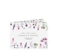 """Danksagungskarte Hochzeit """"Wildblumen"""""""