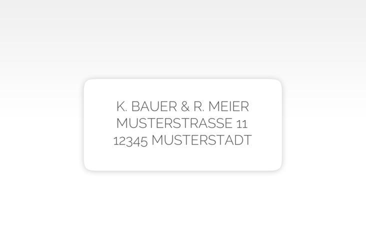 """Absenderetikett Hochzeit """"Promise"""" 45,7 x 21,2 mm"""