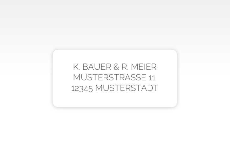 """Absenderetikett Hochzeit """"Promise"""" 45,7 x 21,2 mm weiss"""