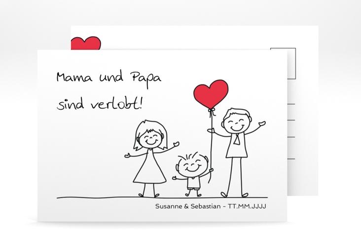 """Verlobungskarte Hochzeit """"Family"""" A6 Postkarte"""