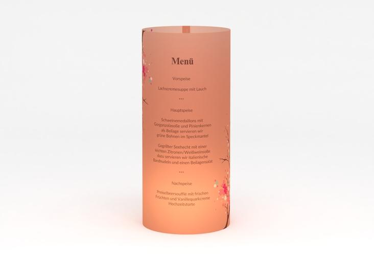 """Windlicht Menü Hochzeit """"Sakura"""" Windlicht apricot"""