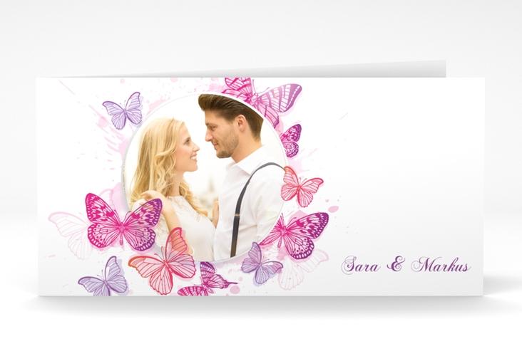 """Hochzeitseinladung """"Schmetterlinge"""" DIN lang Klappkarte"""
