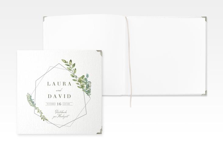 """Gästebuch Selection Hochzeit """"Herbarium"""" Leinen-Hardcover grau"""