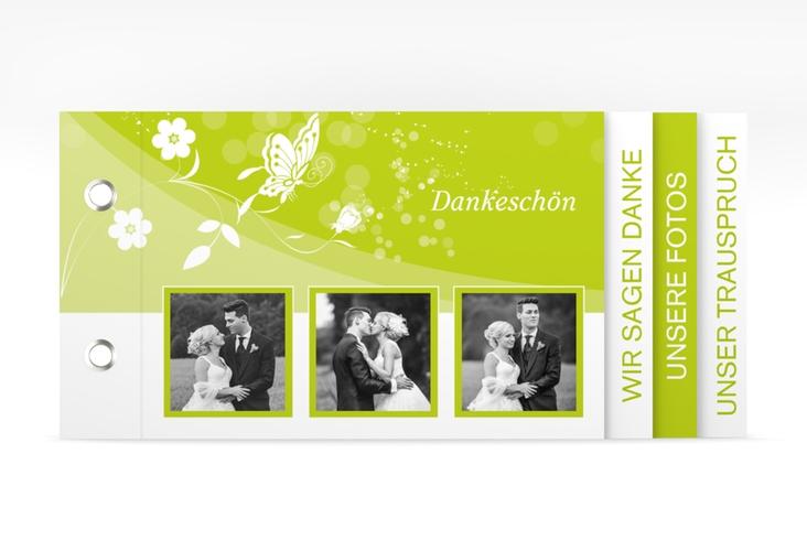 """Danksagungskarte Hochzeit """"Verona"""" Booklet gruen"""