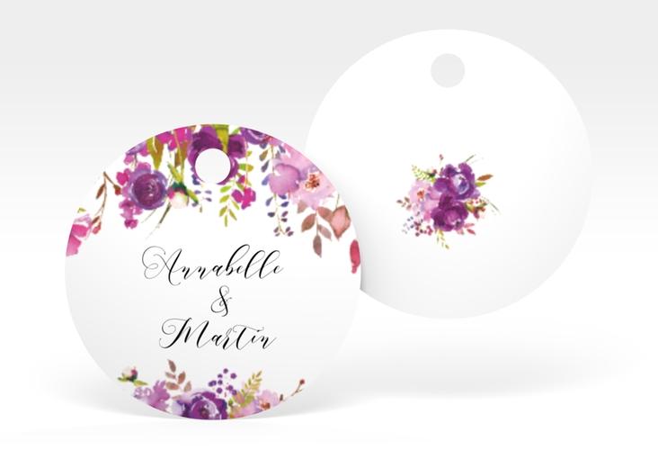 """Geschenkanhänger Hochzeit """"Violett"""" Geschenkanhänger, rund"""