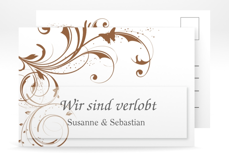 "Verlobungskarte Hochzeit ""Palma"" A6 Postkarte"