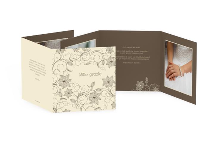 Ringraziamenti matrimonio collezione Savona Quadr. Karte doppelt beige