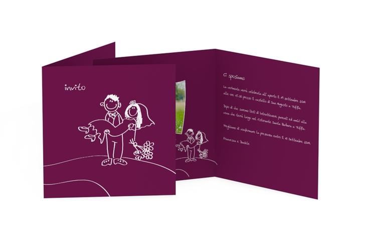 Inviti matrimonio collezione Pisa Quadratische Klappkarte
