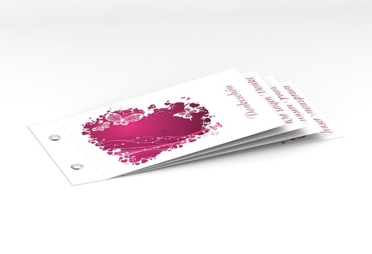 """Danksagungskarte Hochzeit """"Mailand"""" Booklet pink"""