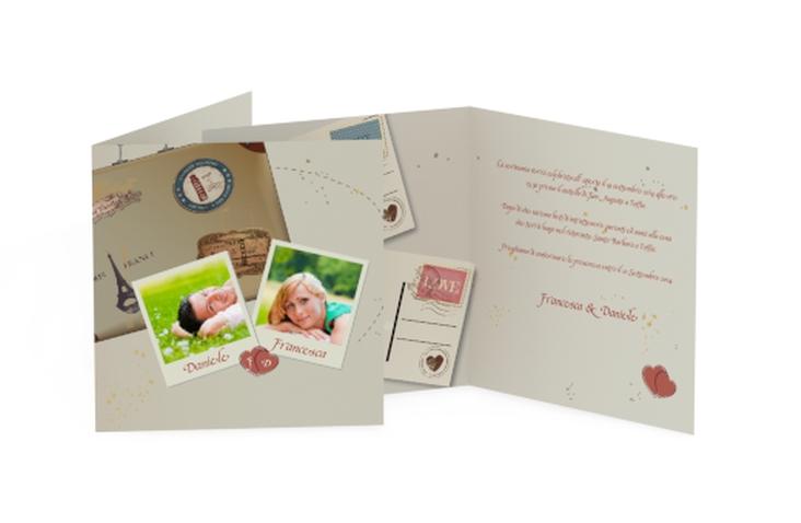 Inviti matrimonio collezione Catania Quadratische Klappkarte