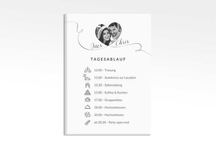 """Tagesablauf Leinwand Hochzeit """"Dolce"""" 50 x 70 cm Leinwand weiss"""