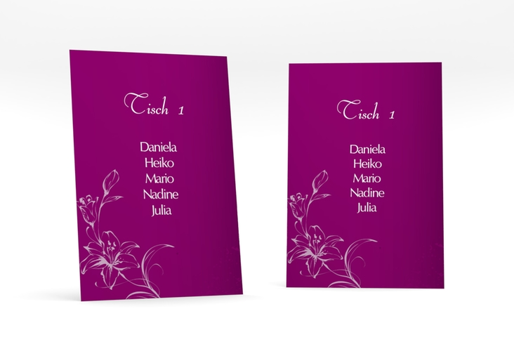 """Tischaufsteller Hochzeit """"Lille"""" Tischaufsteller pink"""