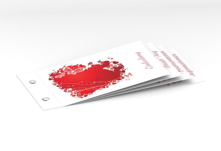"""Hochzeitseinladung """"Mailand"""" Booklet rot"""