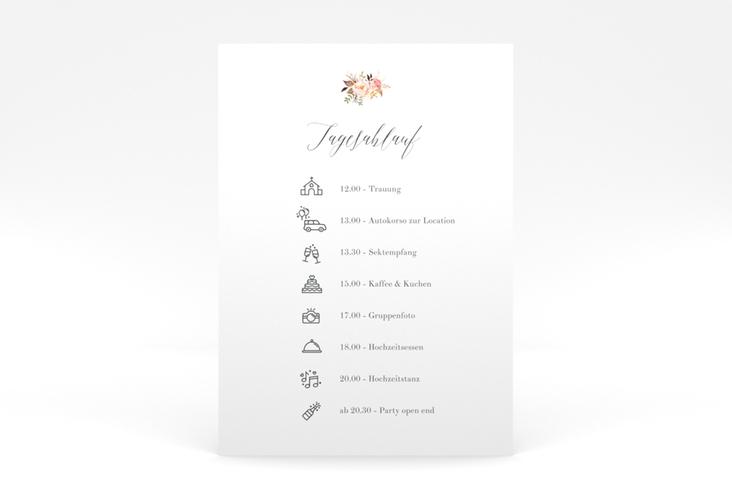 """Tagesablauf Poster Hochzeit """"Prachtvoll"""" 50 x 70 cm Poster weiss"""