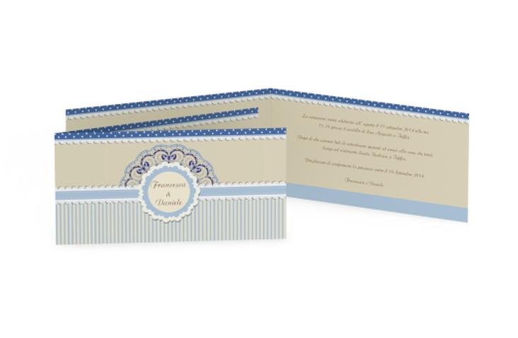 Inviti matrimonio collezione Sorrento DIN lang Klappkarte blu
