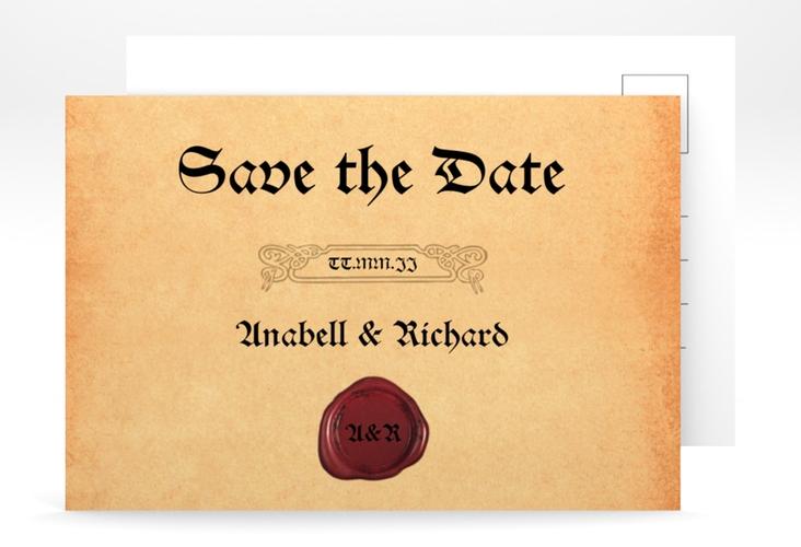 "Save the Date-Postkarte ""Mittelalter"" A6 Postkarte"
