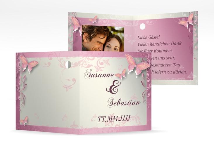 """Geschenkanhänger Hochzeit """"Toulouse"""" Geschenkanhänger 10er Set rosa"""