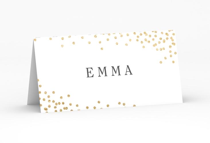 """Tischkarte Hochzeit """"Glitter"""" Tischkarten"""