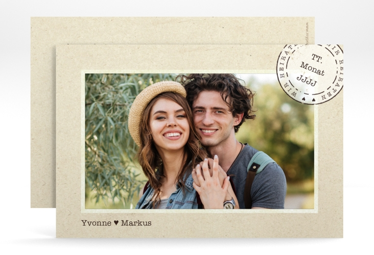 "Save the Date-Karte ""Stamp"" A6 quer"