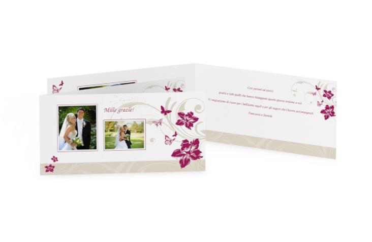 Ringraziamenti matrimonio collezione Parma DIN lang Klappkarte