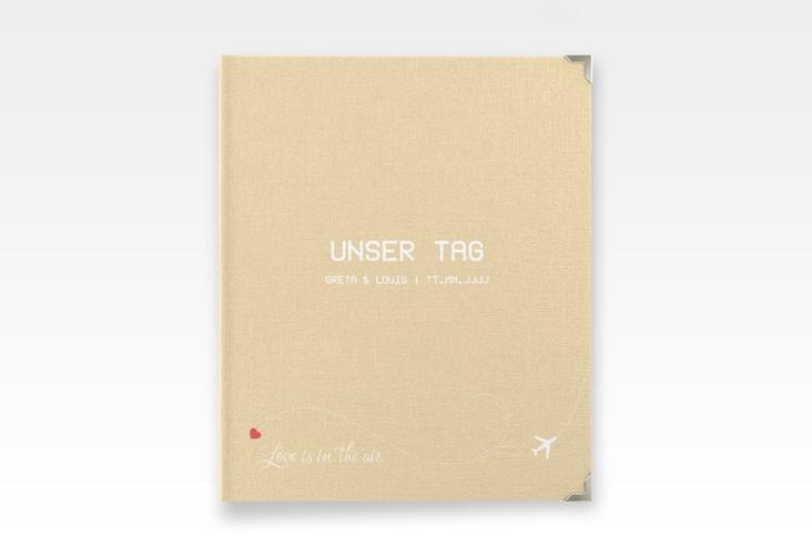 """Hochzeitsalbum """"Weddingpass"""" 21 x 25 cm beige"""