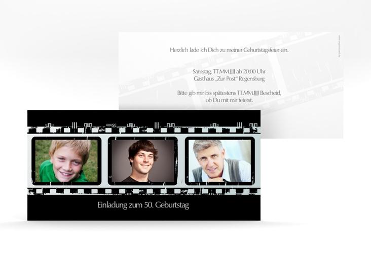 """Einladungskarte """"Christian/Christine"""" DIN lang"""