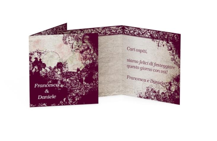 Biglietti Bomboniera matrimonio collezione Bordeaux Geschenkanhänger 10er Set