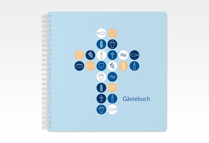 "Gästebuch Kommunion ""Imago"" Ringbindung blau"
