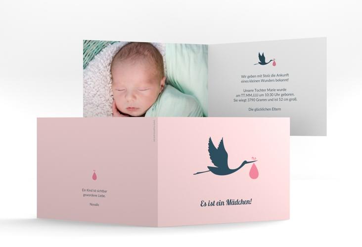 """Geburtskarte """"Einzigartig"""" A6 Klappkarte Quer"""