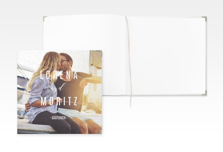 """Gästebuch Selection Hochzeit """"Memory"""" Leinen-Hardcover weiss"""