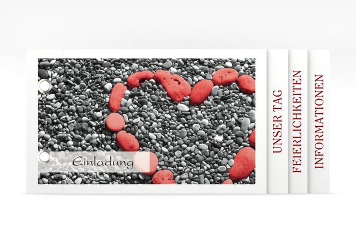 """Einladung Hochzeit """"Bilbao"""" Booklet rot"""