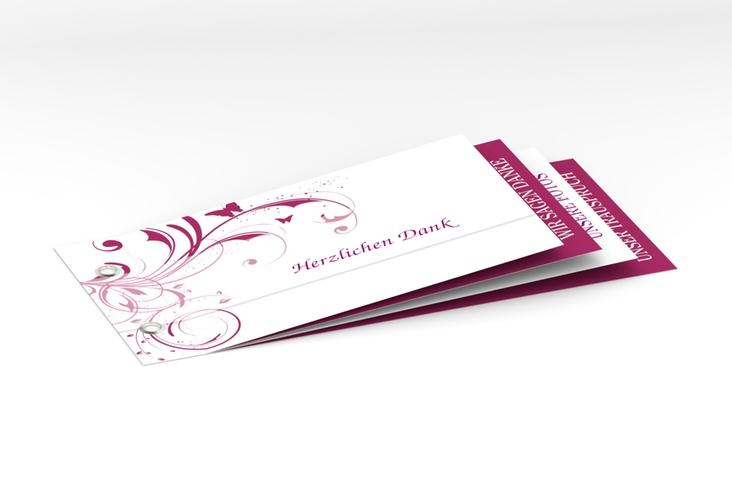 """Danksagungskarte Hochzeit """"Palma"""" Booklet pink"""