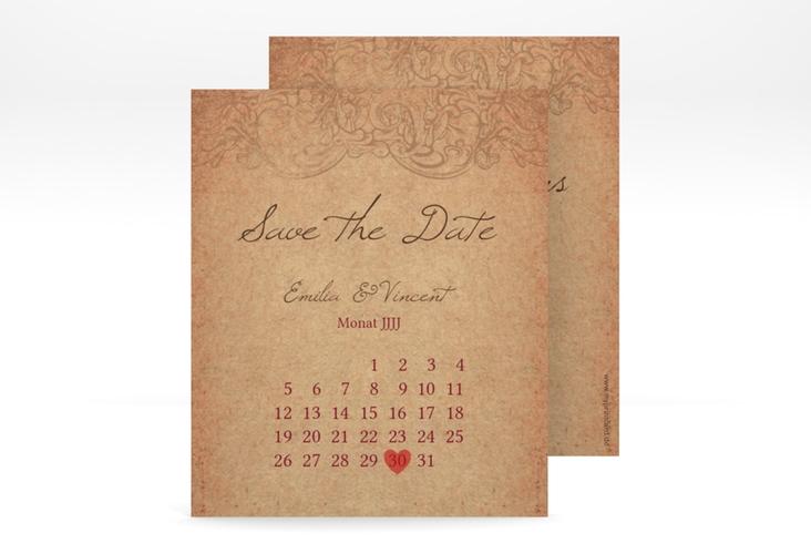 """Save the Date-Kalenderblatt """"Fairytale"""" Kalenderblatt-Karte"""