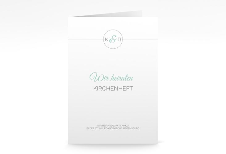 """Kirchenheft Hochzeit """"Unique"""" DIN A5 geklappt"""