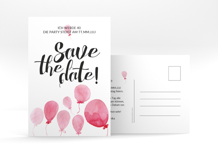 "Save the Date Postkarte - ""Ballon"" A6 Postkarte"
