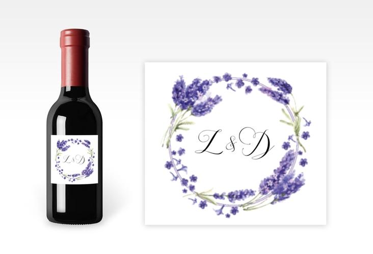 "Piccoloetikett Hochzeit ""Lavendel"" Etikett Piccolo"