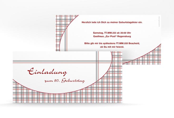 """Einladungskarte """"Herbert"""" DIN lang rot"""