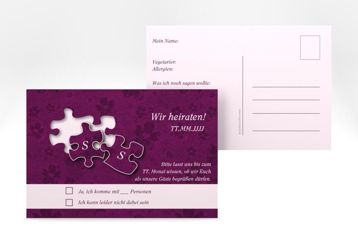 """Antwortkarte Hochzeit """"Ravensburg"""" A6 Postkarte"""