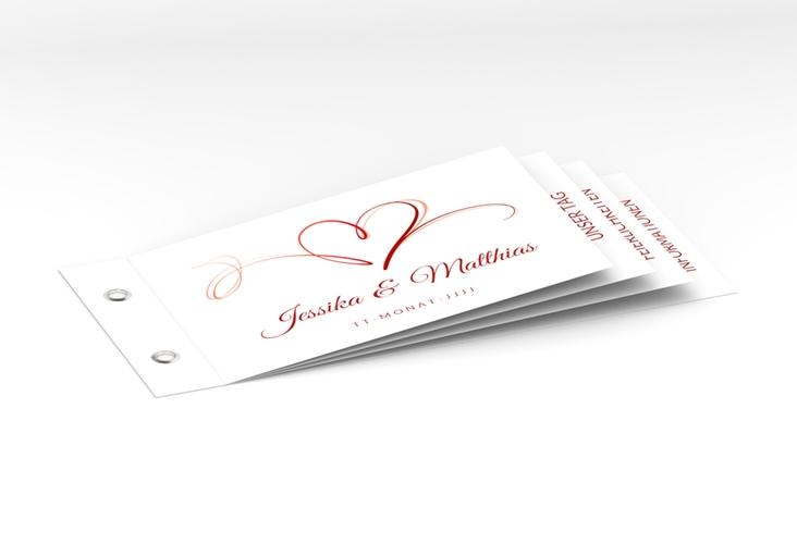 """Hochzeitseinladung """"Envie"""" Booklet rot"""