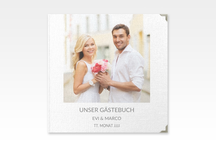 "Gästebuch Selection Hochzeit ""Vista"" Leinen-Hardcover weiss"
