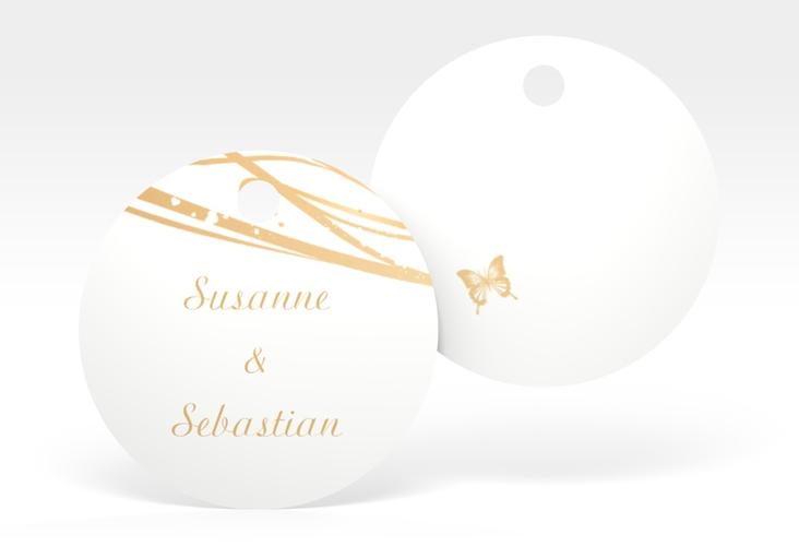 """Geschenkanhänger Hochzeit """"Mailand"""" Geschenkanhänger, rund beige"""