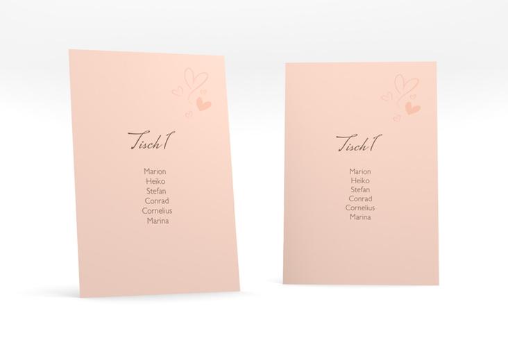 """Tischaufsteller Hochzeit """"Purity"""" Tischaufsteller apricot"""