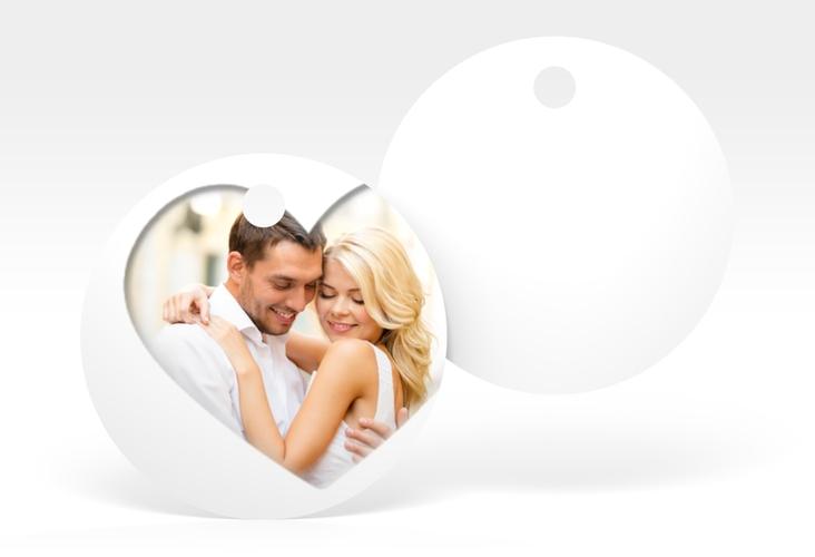 """Geschenkanhänger Hochzeit """"Sweetheart"""" Geschenkanhänger, rund weiss"""