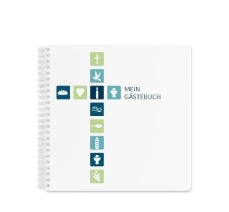 """Gästebuch Kommunion """"Signum"""" Gästebuch blau"""