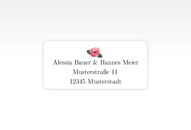 """Absenderetikett Hochzeit """"Fiore"""" 45,7 x 21,2 mm weiss"""