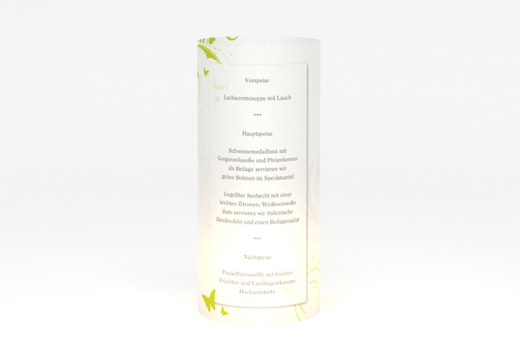 """Windlicht Menü Hochzeit """"Palma"""" Windlicht gruen"""