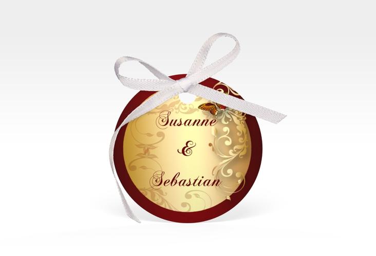 """Geschenkanhänger Hochzeit """"Toulouse"""" Geschenkanhänger, rund"""