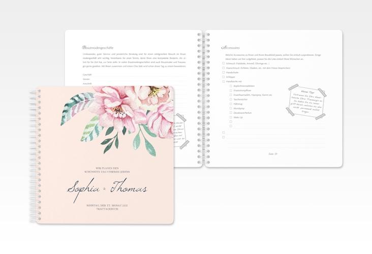 """Trautagebuch Hochzeit """"Blooming"""" Trautagebuch Hochzeit rosa"""