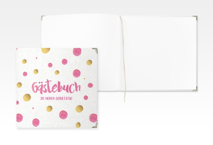 "Gästebuch Selection Geburtstag ""Dots"" Hardcover pink"